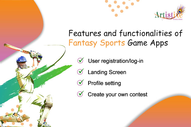 Features and functionalities of Fantasy Sports Game Apps